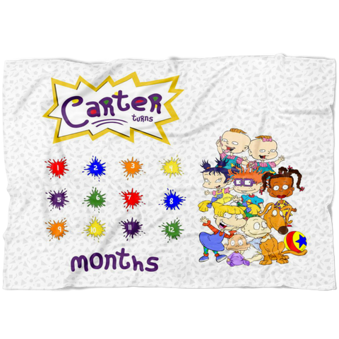 Rugrats Milestone Blanket- Limited Edition - FLECCE