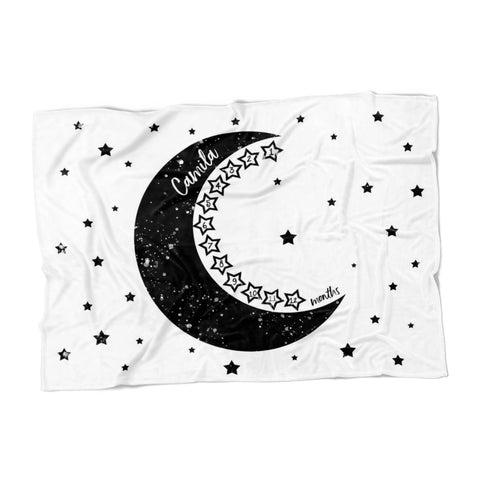 To the Moon and Back Milestone Blanket- FLEECE - Limited Edition