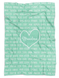Mother's Day Personalized Grandkids Names Blanket - Limited Edition - Fleece