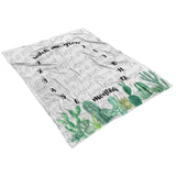 Watch Me Grow Cactus Milestone Blanket - FLEECE - Limited Edition