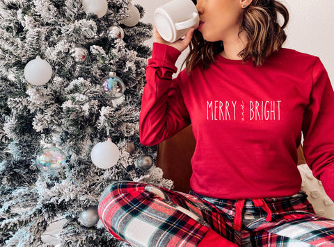 Merry and Bright Long Sleeve Shirt
