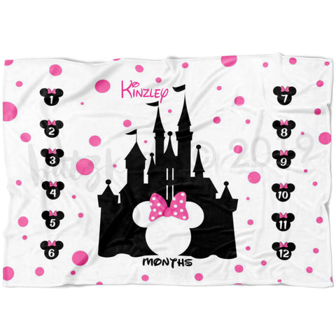 Magical Girl Mouse Milestone Blanket- Limited Edition Fleece