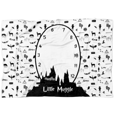 Harry Potter Lovers Milestone Blanket -- FLEECE - Limited Edition