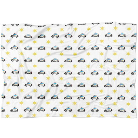 Police Car Swaddle FLEECE