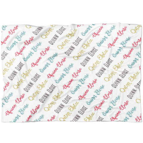 Custom Name Blanket Quinn Font - FLEECE