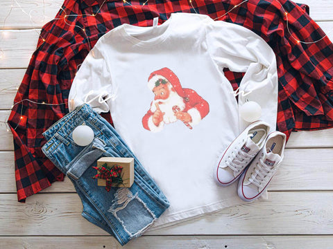 Vintage Santa Long Sleeve Shirt