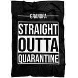Straight Outta Quarantine - Personalized Fleece Blanket - Limited Edition
