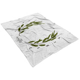 Mason Olive Wreath Milestone Blanket - Limited Edition - FLEECE