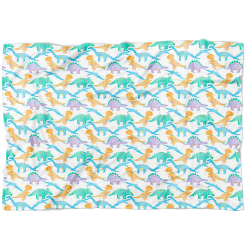 Dinosaur Fleece Swaddle