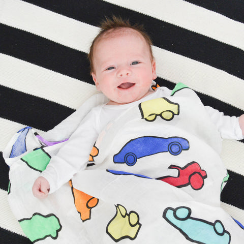Cars Muslin Swaddle Blanket