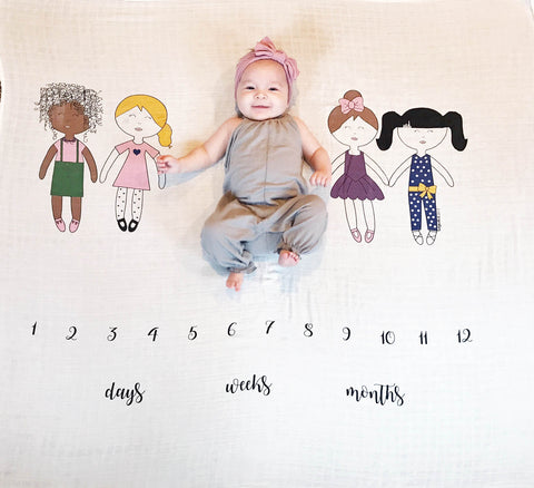 Friends + Best Friends Age Milestone Blanket™