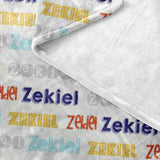 Custom Name Blanket Fitz Font - FLEECE