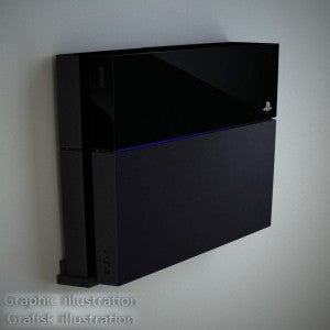 Danish Designed Wall Mounting Kit for Playstation PS4 Pro