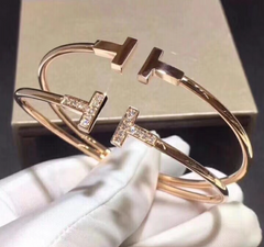 Tiffany&Co. white gold diamond bangle bracelet