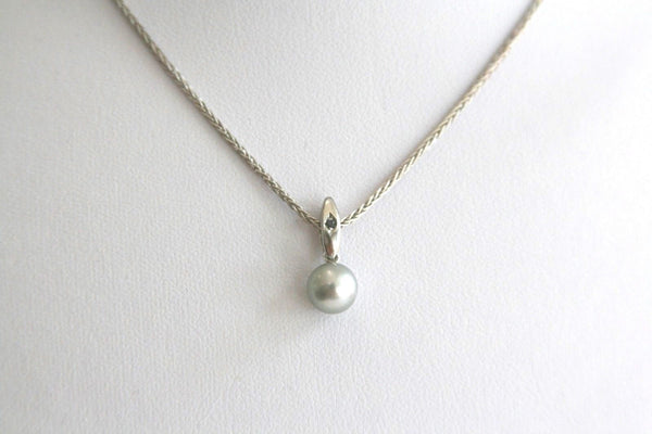 Omega diamond sapphire pearl necklace preowned