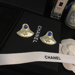 Chanel Earrings with Gem Stone