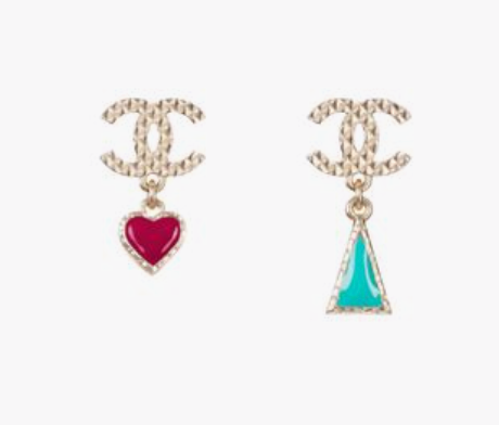Chanel bohemian glaze enamel earrings