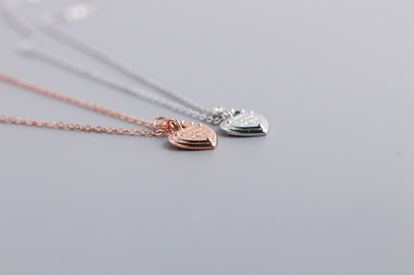 Tiffany &Co. heart key lock necklace Rose Gold