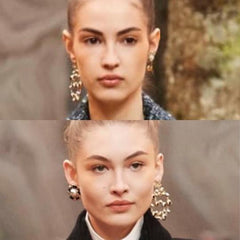 Chanel number 5 circle dangle Earrings