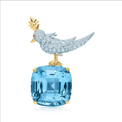 Tiffany&CO. bird on a rock clip brooch