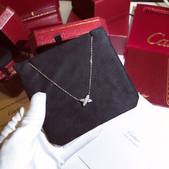D Cartier White Gold Diamond Necklace