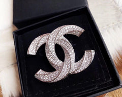 CHANEL CRYSTAL BROOCH