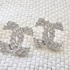 Chanel crystal earring studs