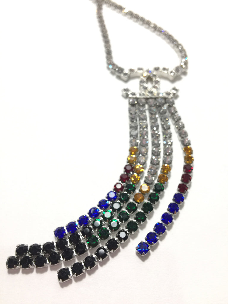 Chanel crystal necklace