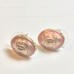 Chanel earring studs oval