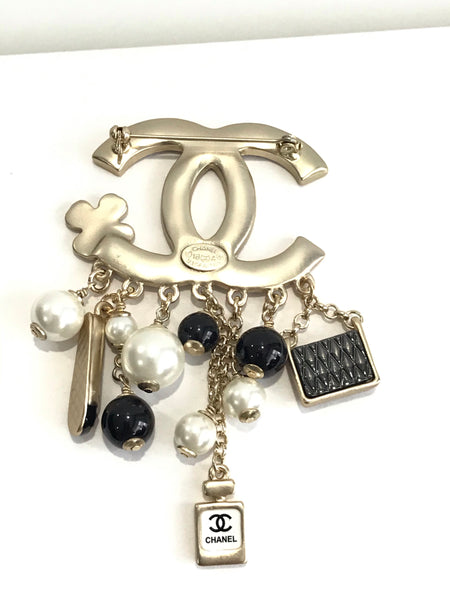 CHANEL CHARMS BROOCH