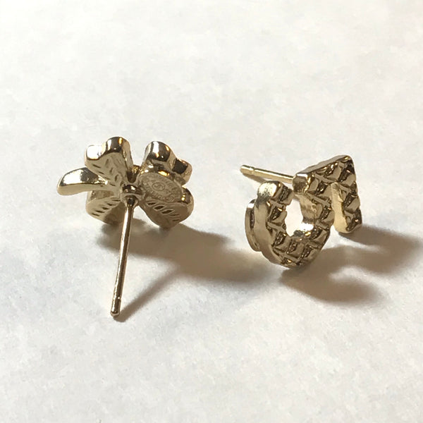 Chanel No.5 clover earring studs