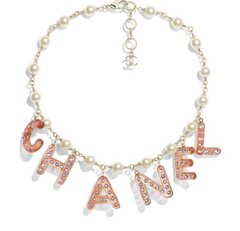 Chanel STRASS RESIN LETTERS BRACELET NECKLACE AB0485 Y47396 Z8836