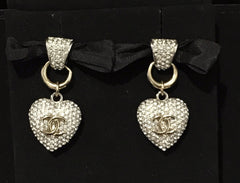 CHANEL HEART SHAPE EARRINGS