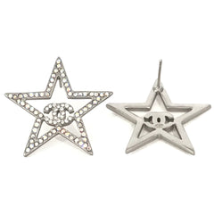 CHANEL CRYSTAL STAR EARRING STUDS