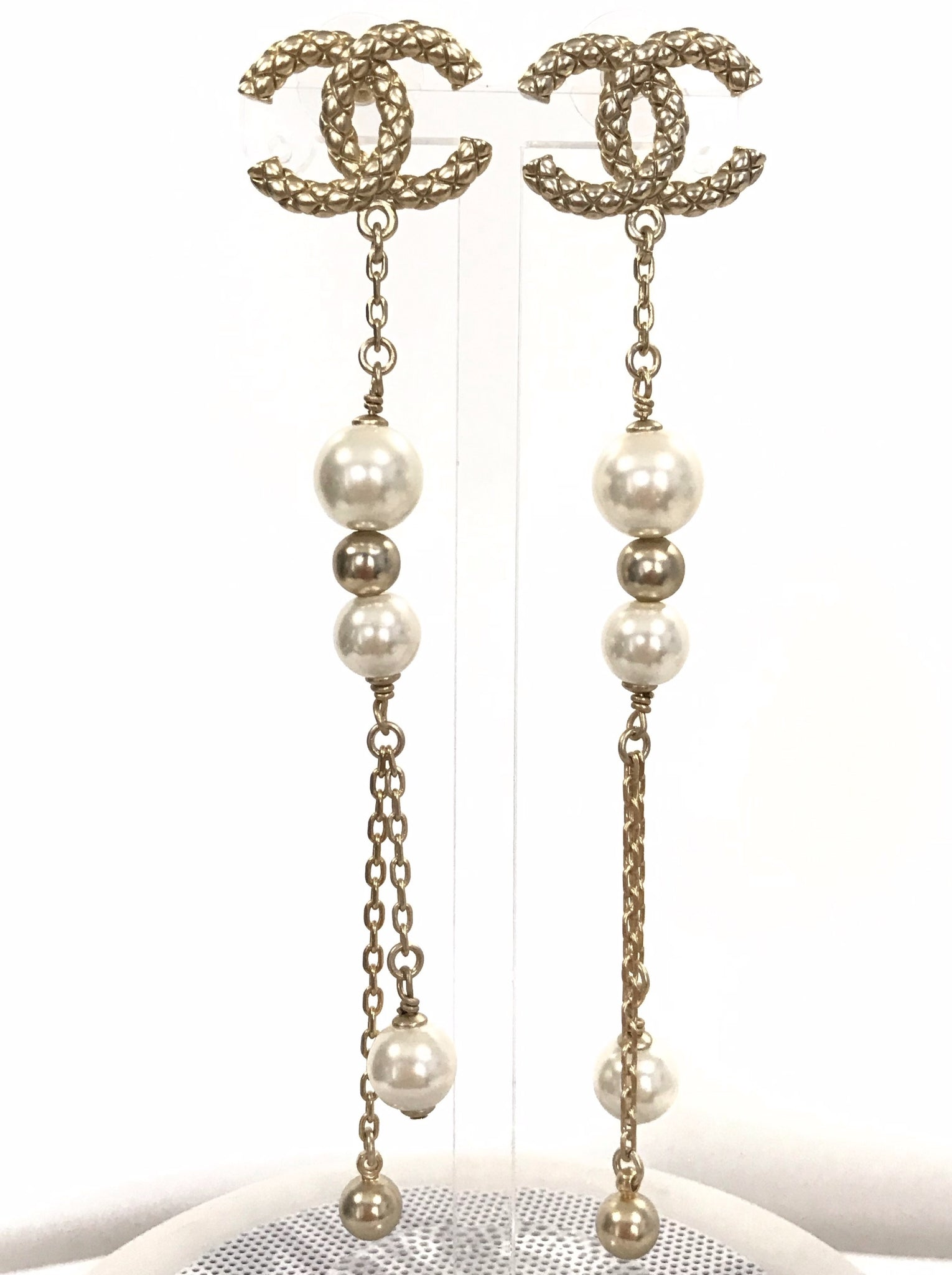 CHANEL EARRINGS DANGLE JC