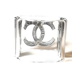 Chanel Cuff Bangle Bracelet in silver tone