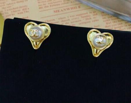 Chanel Heart Earring Studs