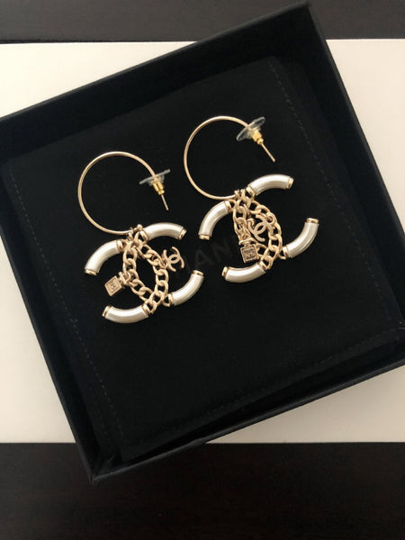 Chanel dangle earrings