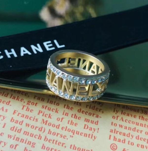 Chanel crystal ring size 7/8