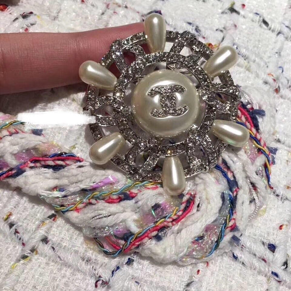 Chanel resin brooch