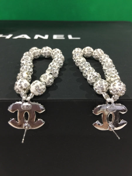 CHANEL STRASS GLITTER BEADS EARRINGS