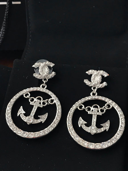 Chanel Cruise Anchor Dangle Earrings