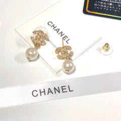 Chanel pearl drop earrings