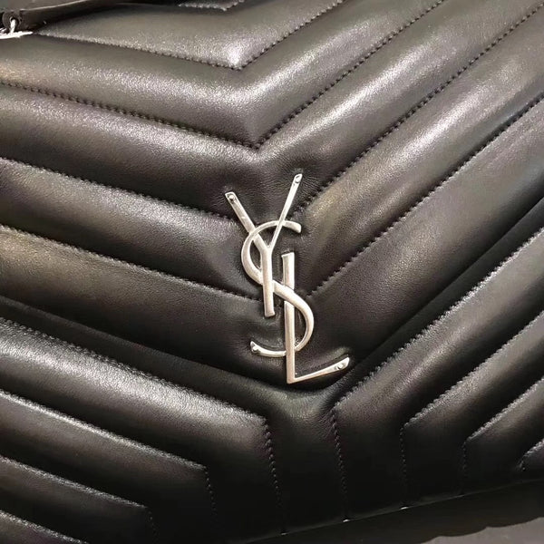 Saint Laurent shoulder bag in chevron-quilted leather