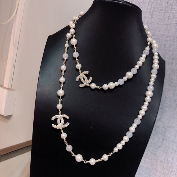 Chanel Long Pearl necklace