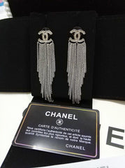 Chanel Fan Strings Dangle Earrings
