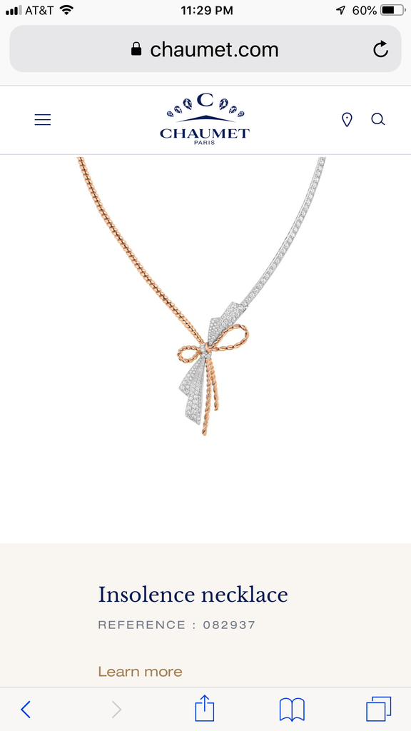 Chaumet Insolence necklace  REFERENCE : 082937