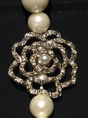 CHANEL Camellia LONG PEARL NECKLACE CAMELLIA