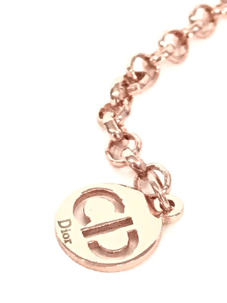 Christian Dior CD 18K Rose Gold Necklace FINE JEWELRY