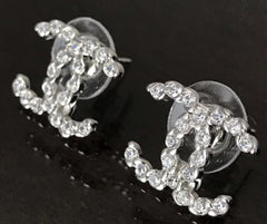 CHANEL EARRING STUDS Crystal Mini